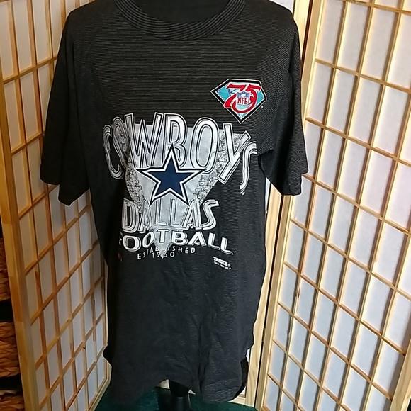 new style a867c 109b7 NFL 75TH Anniversary Dallas Cowboys T- shirt XL